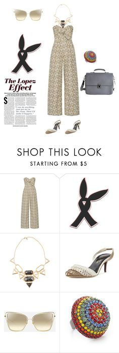 """Untitled #5737"" by ayse-sedetmen ❤ liked on Polyvore featuring Johanna Ortiz, Isharya, Oscar de la Renta, Elizabeth Cole, Louis Vuitton and Jennifer Lopez"