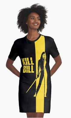 Kill Bill Graphic T-Shirt Dress by Cinemafan on Redbubble #quentin #tarantino #movie #movies #kill #bill #killbill #uma #thurman #art