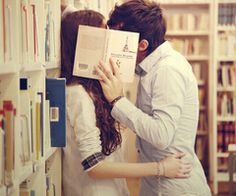 kiss me in the library