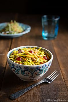 Broccoli Slaw with Pineapple Curry Dressing: A low-fat vegan salad recipe