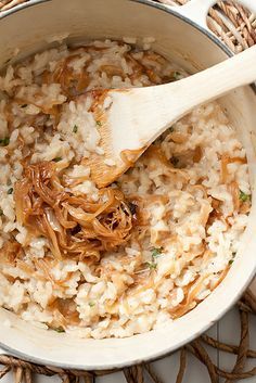 Caramelized Onion and Thyme Risotto