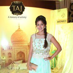 Actress Ishita Dutta at Taj Santacruz #TajCollection #LaunchParty #HomesFurnishings #HomeDecor #HomeFabricCollection #IshitaDutta #Actress #BollywoodActress