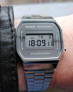 A bit of retro on a stormy day 😲🤠💨 . Watch Fan, Retro Watches, 80s Fashion, Casio Watch, Classic, Derby, Classic Books