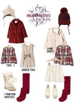 Holiday Outfits for Toddler Girls // Christmas Outfits for Girls // Toddler Christmas Clothing // Lynzy & Co.