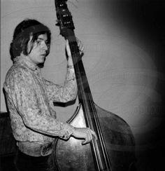Jack Bruce playing double bass Cream Eric Clapton, Ginger Baker, Jack Bruce, Steve Winwood, Blues, Erudite, Double Bass, Rock Stars, Led Zeppelin
