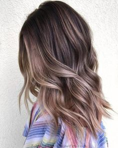 70 Flattering Balayage s for 2019 – – 70 Flattering Balayage Ideas for 2019 Light Brown Balayage Hair – - Hair Color Ash Brown Balayage, Brown Ombre Hair, Ombre Hair Color, Hair Color Balayage, Brown Hair Colors, Blonde Balayage, Cool Tone Brown Hair, Soft Balayage, Balayage Highlights
