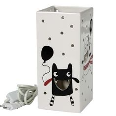 This beautiful lamp in black-white-red and pink is part of the Minimonster series from the Swedish company Cult Design. The light shines gently from the happy monster mouths and the small holes placed all over the lamp.