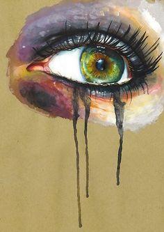 green eye painting ( my hero) Illustrations, Illustration Art, Lapin Art, Crying Eyes, Drawn Art, Wow Art, Watercolor Artists, Watercolor Paintings, Art Inspo