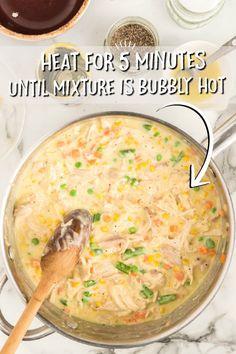 Chicken Pot Pie Casserole Best Healthy Dinner Recipes, Dinner Recipes Easy Quick, Vegetarian Recipes Dinner, Easy Recipes, Chicken Pot Pie Casserole, Beef Casserole Recipes, Chicken Soup, Chicken Recipes, Skillet Recipes