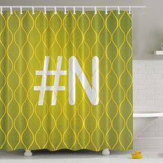Ambesonne #Your Letter Print Shower Curtain Color: Somon, Letter: F