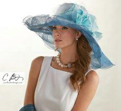 Carol Bader custom hat - perfect for Derby!