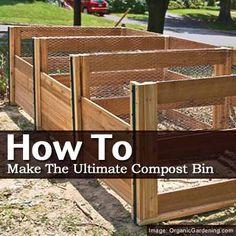 Bygg en kompost med olika delar för att separera gammal kompost från ny.