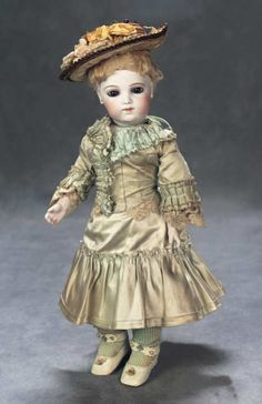 The Great Man's Doll: 142 Dainty French Bisque Bebe Brevete by Leon Casimir Bru with Brown Eyes