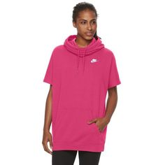 Women's Nike Short-Sleeve Fleece Hoodie, Size: