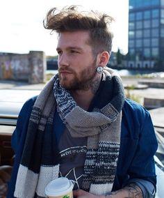 +Scarf + beard + tattoo... http://www.creativeboysclub.com/
