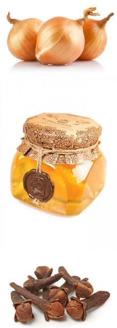 Домашний сироп от и температуры. Очень вкусный, очень полезный, отлично помогает и готовится просто! Понадобится. 1 чашка нарезанного репчатого лука, 1/2 чашки меда. По желанию: 1 ч. ложка гвоздики (целой или молотой) - особенно хороша для облегчения болей, 1-2 ст. ложки свежего нарезанного корня имбиря или 1 ч. ложки молотого имбиря - для прогревания, улучшения кровообращения и повышения эффективности сиропа. | Здоровье | Постила