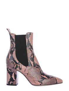 Paris Texas Python Print Boot In Animal Print,pink Paris Texas, Python Print, Boutique Design, 5 Inch Heels, Leather Heels, Shoe Brands, World Of Fashion, Footwear, Boots