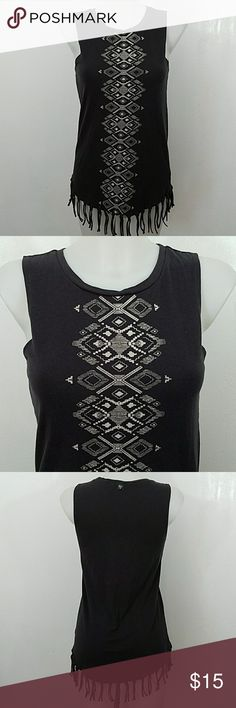 """Billabong Fringed Tank Top Billabong Fringed Tank Top. In great condition. Size medium.  Bust 32"""" Length 26"""" Billabong Tops Tank Tops"""