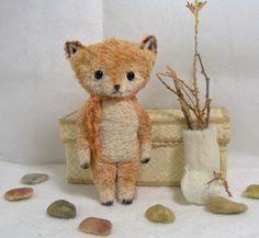 Fox Artist Bear Friend  Soft Sculpture Woodland by SReetzBears