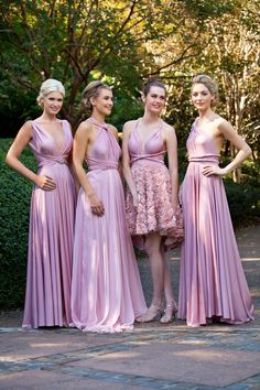 Multi-way bridesmaid dresses.