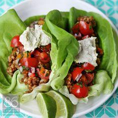 Taco Fiesta Recipe (raw, vegan, gluten-free)  86lemons.com