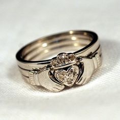 Claddagh Stacking Rings. Christmas list!