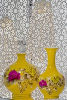 Yellow pink and white - ELLE DECOR India