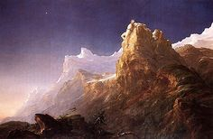 Thomas Cole. Prometheus Bound, 1846. (Thomas Cole (1801-1848) was an English-born American Artist. He is regarded as the founder of the Hudson River School, an American art movement that flourished in the mid-19th century. Cole's Hudson River School, as well as his own work, was known for its realistic and detailed portrayal of American landscape and wilderness, which feature themes of Romanticism and Naturalism.)