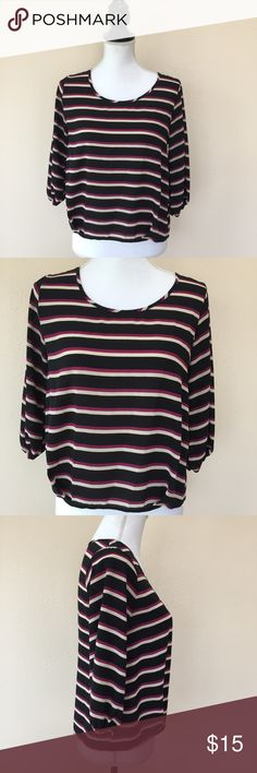 Stitch Fix Everly Striped Top Size S Excellent condition Everly Tops Crop Tops