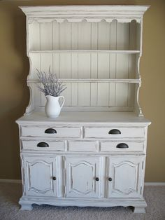 Pretty...I want to refinish our dining room hutch but I'm not quite sure how the husband will feel about it.