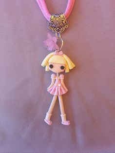 Lalaloopsy polymer clay necklace  fimo by Artmary2 on Etsy, €12.00