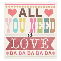 Caroline GardnerAll You Need Is Love Valentine's Day Card