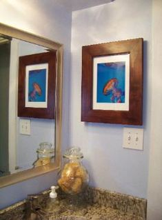Framed Print Is Actually A Custom Recessed Medicine Cabinet, See Site  Customer Photos | Testimonial