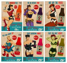 My latest addition to the Super Soda range. NEW Super Soda Cherry Coke and Alluring Apple! Lois and Ivy! Dc Comics, Comics Girls, Harley Tattoos, Comic Art, Comic Books, Batman And Superman, Superman Stuff, Pop Culture Art, Joker And Harley