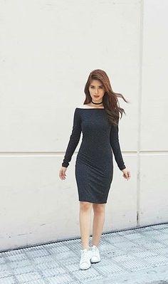 Louisa New Girl Style, Flattering Outfits, Filipina, Girl Crushes, Baby Dress, Stylish Outfits, Womens Fashion, Girl Fashion, High Neck Dress