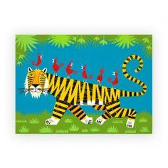 Canvas 'Tiger transportation' by Iota Illustration | www.lovethesign.com/uk