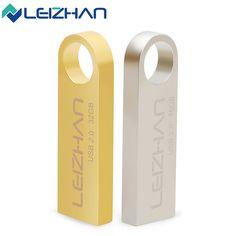 LEIZHAN USB Flash Drive Customized Metal U Disk 64G 32G 16G 8G 4G Pendrive Waterproof Pen drive USB2.0 U Stick Memory U Disk