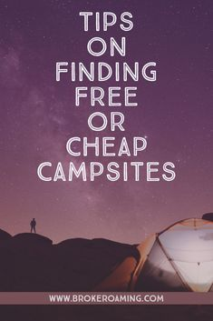 One of the biggest mistakes I made on my first solo road trip was not figuring out how to find campsites that would fit into my budget. There are free and affordable campsites everywhere! You just have to learn how to find them. Here are the best websites for finding free and cheap campgrounds or campsites. #camping #freecamping #carcamping #campinghacks #campingtips #roadtriphacks #roadtriptips Jeep Camping, Camping Spots, Camping And Hiking, Camping Tips, Road Trip Packing, Road Trip Essentials, Road Trip Hacks, Road Trips, Backpacking For Beginners