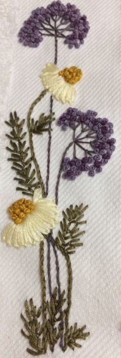 Papatya ,daisy Brezilya nakışı küçük havlu
