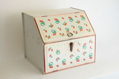 Vintage Tin Bread and Pie Box Strawberries and by Vacillation, $35.00