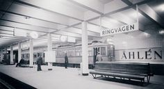Subway station Skanstull in Stockholm 1933.