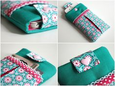 E-Book Nähanleitung Handytasche // sewing tutorial phone case via DaWanda.com