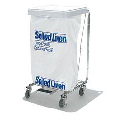 アメリカの病院やホテルではランドリー用として使われているものだがゴミ箱にも代用可能。足元のペダルでフタを操作するので、手が汚れていても開け閉めができる。