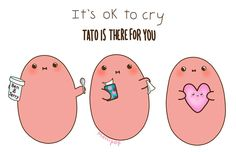 I need this potato at all times even when I'm not sad I just need a kawaii potato for everyday life! Tiny Potato, Cute Potato, Potato Funny, Cartoon Potato, Potato Girl, Kawii Potato, Its Ok To Cry, Chibird, Little Potatoes