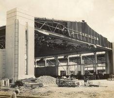 Hangar 15 at Hickam Field, post Pearl Harbor Attack, 1941