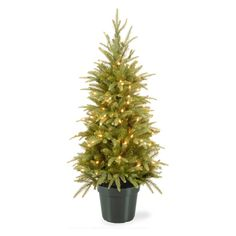 National Tree Company 4 ft. Weeping Full Pre-lit Christmas Tree - PEWS3-373-40