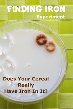 There really is iron in your breakfast cereal. Want to see for yourself? Use a magnetic to prove it! via @rookieparenting