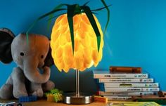 Snip The Stems Off Plastic Spoons To Make A Quirky Pineapple Lamp