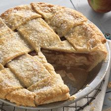 Apple Pie: King Arthur Flour: excellent apple pie! KAF used boiled cider, so I gave it a try - I boiled down some apple cider with dried cranberries and used this in the filling. There were no leftovers........10/10