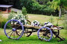 Carroça da Chácara Mangala decorada